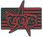 Children of Bodom - COB Star on USA Flag - Embroidered Iron On Patch