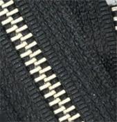 90cm Nickel Zipper ~ YKK #5 Nickel Metal - Separating ~ 580 Black