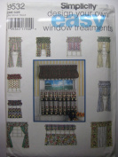 Simplicity Easy Design Your Own Window Treatments Sewing Pattern # 9532