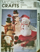 McCall's Crafts Pattern #6723 A Country Christmas Santa & Snowman Dolls