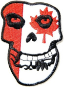 6.4cm x 8.6cm THE MISFITS Canada Flag Skull Ghost Crimson Hardcore Heavy Metal Rockabilly Rock Punk Music Band Logo jacket T-shirt music patch by Tourlesjours