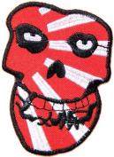 6.4cm x 8.6cm THE MISFITS Janpan Sunset Flag Skull Ghost Crimson Hardcore Heavy Metal Rockabilly Rock Punk Music Band Logo jacket music patch by Tourlesjours