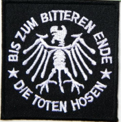 """7cm """" x 7.4cm DIE TOTEN HOSEN Heavy Metal Rockabilly Rock Punk Music Band Logo jacket T-shirt Patch Iron on Embroidered Sign music patch by Tourlesjours"""