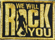 7.6cm X 5.1cm WE WILL ROCK YOU The Queen Punk Matel Music Logo Polo T shirt Patch Sew Iron on Embroidered Costum