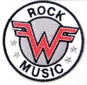 7.6cm x 7.6cm WEEZER Logo Rock Rockabilly Rock Punk Music Band Logo jacket T-shirt Patch Iron on Embroidered Sign Badge music patch by Tourlesjours