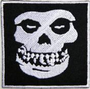 "8.3cm "" x 8.3cm MISFITS Skull Crimson Danzig Hardcore Heavy Metal Rockabilly Rock Punk Music Band Logo jacket T-shirt Patch Iron music patch by Tourlesjours"