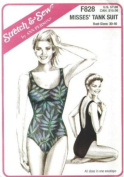Stretch & Sew Misses' Tank Suit F828 Pattern, Bust Sizes 30 - 46