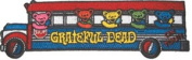 Grateful Dead Garcia 15cm Tour Bus Dancing Bears Embroidered iron on Patch p1352