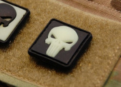 Glow-in-the-dark the Punisher Skull PVC Patches