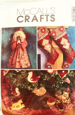 Holiday Ornaments, Tree Skirt, Stockings And Angel McCall's Crafts Sewing Pattern 3426