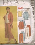 McCall's Pant Suit Pattern Long/Capri Pants Uncut Unused