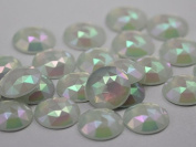 18mm Opal A43AB Flat Back Round Acrylic Jewels High Quality Pro Grade - 30 Pieces
