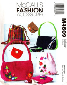 McCALL'S SEWING PATTERN M4609 / 4609 BACKPACK, BAG, PURSE, TOTE