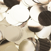 20mm Round SEQUIN PAILLETTES SILVER Loose sequins for embroidery, applique, arts, crafts, and embellishment.