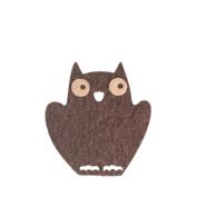 Owl DIY Applique Printed Felt Iron on Patch #Black