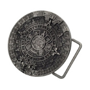 Aztec Calendar Silver Colour Mayan Unique Native American Belt Buckle