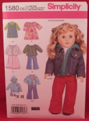 Simplicity 1580 Sewing Pattern For 46cm Doll Clothes