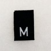 Size M (Medium) Black Woven Clothing Size Labels