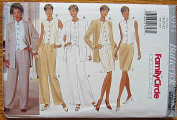 Butterick 3951 Sewing Pattern ~ Misses' Wardrobe Separates, Jacket, Top, Skirt, Pants, Suit, Family Circle Collection, Sizes 18-20-22