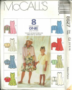 Childrens And Girls Unlined Jacket And Dress (McCall's Sewing Pattern 8627, Size