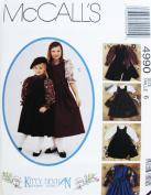 McCALL'S 4990 Little Girls' Jumper Dress, Blouse & Matching Bag /Purse