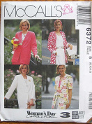 McCall's 6372 Sewing Pattern - Woman's Day Collection Misses' Unlined 3 Hour Jacket, Sizes 8, 10, 12