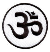 Aum Om Infinity Hindu Hindi Hinduism Yoga Indian Applique Iron-on Patch New S-2 Handmade Design From Thailand