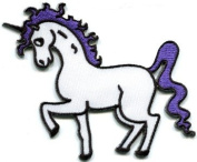 Pegasus Unicorn Fantasy Horse 70s Retro Appliques Hat Cap Polo Backpack Clothing Jacket Shirt DIY Embroidered Iron On / Sew On Patch #2