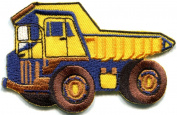Dump Truck Dumper Tip Truck Tipper Lorry Retro Applique Iron-on Patch New S-431 Made of Thailand