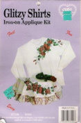 Glitzy Shirts Iron-on Applique Rose Design