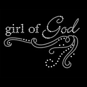 Girl of God Iron On Rhinestone T-Shirt Transfer