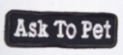 Ask To Pet 1.5 x 3.5 Tiny Dog Vest Patch