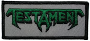 Testament Music Band Patch - Green on Grey Logo - Applique