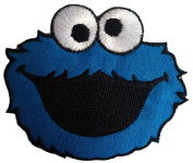 Cookie Monster Sesame Street The Muppets patches '' 9 x 7,5 cm ''Iron on Sew Applique Embroidered patches