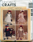 McCall's Sewing Pattern 8139 Doll Clothes for 46cm Doll Betsy McCall Designs