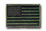 American Flag Olive Drab 8.9cm Hook and Loop Patch