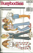 GIRLS VEST, TOP, SKIRT & PANTS SIZE 12-14 BUSYBODIES BY BUTTERICK FAST & EASY #6808