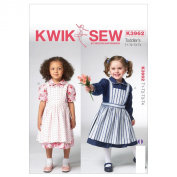Kwik Sew Patterns K3962 Toddlers Dress and Pinafore Sewing Template, All Sizes