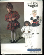 Little Vogue Sewing Pattern - Children's Dress With Flared Skirt and Ruffle Options #2147