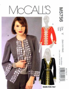McCall's 5756 Sewing Pattern Womens Cardigans Size 4 - 6 - 8 - 10 - 12 - 14