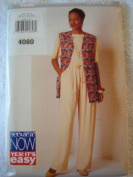 MISSES VEST, TOP & PANTS SIZE 12-14-16 RATED VERY EASY SEE & SEW BUTTERICK SEWING PATTERN #4080