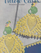 Vintage Crochet Pattern to make - Crinoline Lady Pineapple Edging Applique Motif. NOT a finished item. This is a pattern and/or instructions to make the item only.