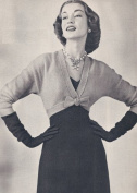 Vintage Knitting PATTERN to make - Spencer Bolero Shortie Jacket. NOT a finished item. This is a pattern and/or instructions to make the item only.
