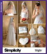 UNCUT & OOP SIMPLICITY 4216 BRIDAL ACCESSORIES VEILS, CAPELET, PURSE, BAG, PILLOWS & GARTER