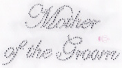 Mother of the Groom Iron On Hot Fix Rhinestone Transfer -- Clear