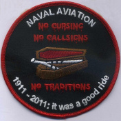 U.S. Military Embroidered Patch - Naval Aviation Patch - NO CURSING