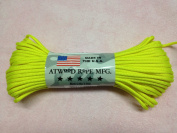 Neon Yellow Solid Colour 7 Strand 550 Paracord Made in USA 100ft Parachute Cord