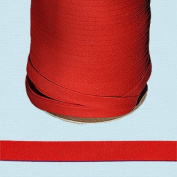 Bias Tape ~ 1.3cm Wide Double-fold Bias Tape ~ RED ~ Poly Cotton