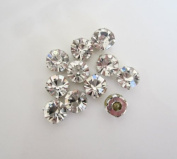 50 Pieces - 5mm Sew On Rhinestones in Clear by Cosmetic Counter