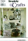 Simplicity 7869 Crafts Sewing Pattern Picture Frames Tissue Box Cover Pillow Baskets